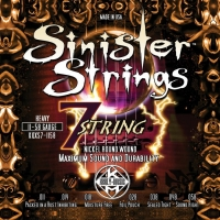 KERLY KQXS7-1158 Sinister 7 Strings Nickel Plated Steel Tempered