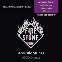 FIRE&STONE Acoustic Guitar 80/20 Bronze Super Light 11-52 Coated