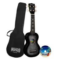 MAHALO U2Kit/CBK Black Sparkle укулеле сопрано с чехлом