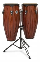 Latin Percussion LP646NY-CMW City Series Conga Set w/Stand Carved Mango