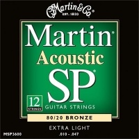 MARTIN MSP3600 SP 80/20 Bronze 10-47/10-27 12-String