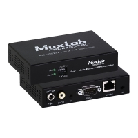 MuxLab AUDIO/RS232 over IP PoE Transceiver