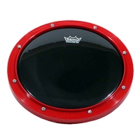 REMO RT-0008-58 Tunable Practice Pad Red Ambassador Ebony Head