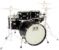 DRUMCRAFT Series 8 Progressive  Maple Cardiac Burst Black Nickel HW