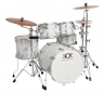 DRUMCRAFT Series 7 Progressive Maple Liguid Chrome Satin Chrome HW