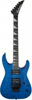 JACKSON JS Series Dinky Arch Top JS32Q Rosewood Fingerboard Transparent Blue