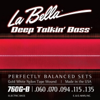 La Bella 760G-B Gold White Nylon