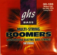 GHS 6ML-DYB 6-String Bass Boomers Medium Light 30-126